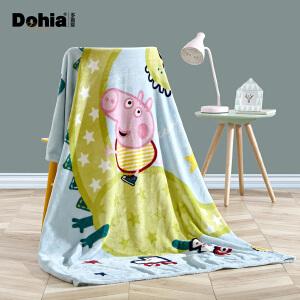 多喜爱冬季毛毯卡通单双人保暖毯小猪佩奇之出发吧恐龙法兰绒毯