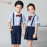 儿童礼服男女童背带裤套装小学生合唱服演出服装
