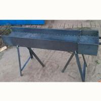 商用大排挡号码羊肉串烧烤炉子加厚生意摆摊烧烤架木炭碳烤箱 1.5米长 带架子