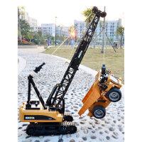 遥控起重机大号合金吊车履带电动玩具工程车模型儿童男孩吊机