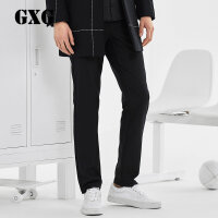 GXG男装 男士经典修身时尚黑色休闲裤#64202316
