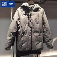 唐狮羽绒服男短款冬季学生加厚连帽衣服韩版修身青年外套622411073405