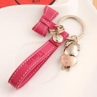 情侣钥匙扣男女钥匙链创意时尚钥匙扣女生包包个性挂件送闺蜜送好友钥匙圈 红色 均码