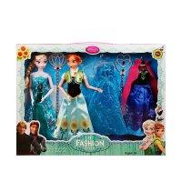 冰雪奇缘艾莎安娜娃娃玩具Elsa爱莎Anna女孩娃娃公主礼物礼盒套装 圣手儿童节礼物