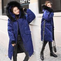 棉衣女中长款韩版2017新款宽松加厚过膝防寒冬装毛领时尚外套