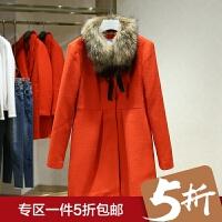 毛呢外套女中长款2017冬装新款 韩版显瘦百搭纯色呢子大衣