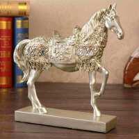 物有物语 工艺摆件 树脂马工艺品开业装饰件结婚礼物创意家居商务摆件