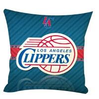 并力篮球队湖人火箭抱枕棉麻酒吧咖啡厅汽车抱枕沙发靠垫午睡亚麻枕套枕头 火箭 45*45cm