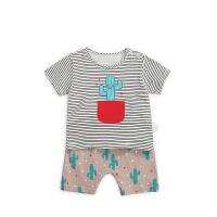 男宝宝短袖套装婴儿夏装薄款衣服儿童卡通运动两件套