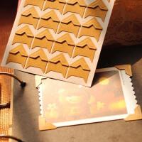diy相册自制手工材料工具配件角贴 纸质复古相角贴24枚入