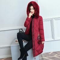 棉衣知性女士冬季韩版大毛领加厚保暖羽绒修身过膝中长款棉袄