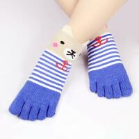 儿童五指袜子女秋冬款纯棉船袜男女童分趾袜女士短袜