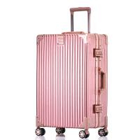 行李箱拉杆女韩版小清新旅行箱24寸万向轮男20直角铝框密码皮箱子