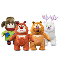 熊出没毛绒玩具熊大熊二光头强之变形记玩偶少女心公仔熊熊乐园