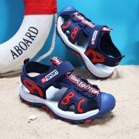 儿童包头凉鞋男童夏季防滑防撞宝宝包头凉鞋男童