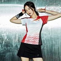 秋冬情侣款短袖羽毛球服套装男女款网球服比赛团队服