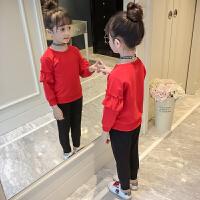 儿童装洋气卫衣两件套小女孩衣服潮女童春装套装2018新款韩版时尚
