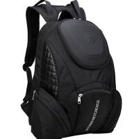 新款欧美男士双肩包 旅行背包户外轻便防水电脑个性蛤蟆包 黑色 均码