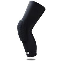20180315055332472护膝运动超薄护腿篮球护膝运动护具加长护小腿透气篮球护具护腿套 黑色蜂窝护腿 单只装