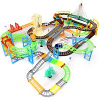 轨道车玩具托马斯小火车头套装电动赛车男生过山车圣诞节礼物