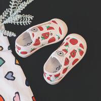 儿童帆布鞋女宝宝鞋子防滑软底学步鞋秋款男女童鞋