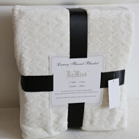 北欧珊瑚绒毯子夏季毛毯薄款双人提花法兰绒空调毯单人学生毛巾被