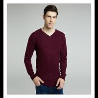 男士羊绒衫v领套头商务休闲正品纯色修身毛衣加厚产自鄂尔多斯市