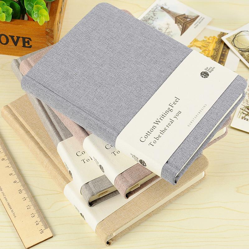 初品A5纯棉时代商务笔记本精装96张简约布面记事本创意日记本