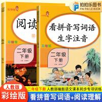 二年级阅读理解训练语文人教版看拼音写词语生字注音二年级下册