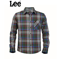 Lee 专柜新款男式格子长袖修身衬衫L10048184125