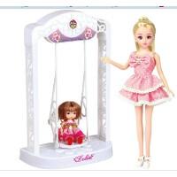 乐吉儿永动秋千芭比可儿娃娃套装礼盒2014女孩公主玩具