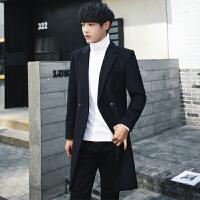 英伦羊毛呢子大衣男士外套修身中长款秋冬新款韩版潮流呢大衣