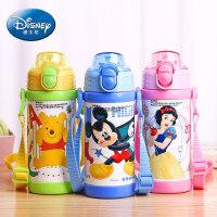 迪士尼 儿童保温杯带吸管水杯男女学生便携吸管杯可爱宝宝保温杯子