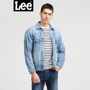 Lee男装2018春夏新品浅牛仔蓝长袖夹克L301773HH7RE