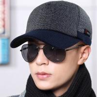 青年棒球帽男春夏季帽子男韩版潮户外单款鸭舌帽呢护耳运动男帽子