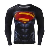 运动紧身衣男士跑步篮球训练长袖速干弹力健身衣服 JT-16 超人