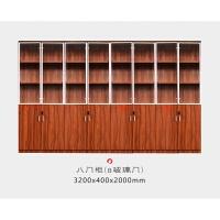 文件柜木质带锁资料柜办公室储物柜子档案柜板式办公书柜带玻璃门 400mm
