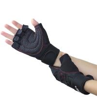 20180407193354874健身手套男女运动器械哑铃锻炼举重半指手套训练健身房透气防滑