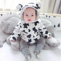 婴儿衣服冬季女童洋气外套装1岁3男宝宝保暖秋冬装