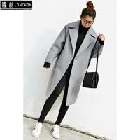 毛呢外套韩版学生茧型呢子大衣矮小个子女韩国妮子原宿显瘦风衣