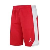 新款乔丹篮球短裤运动健身跑步裤百搭五分裤中裤透气吸湿排汗篮球运动裤篮球训练短裤浅灰色实