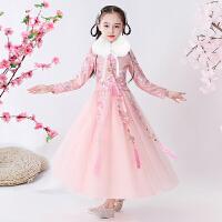 儿童过年汉服女超仙童装中国风古装旗袍女童唐装秋冬连衣裙