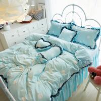 家纺冬季珊瑚绒加绒保暖四件套短毛绒水晶绒毛绒 1.5m1.8m被套床裙