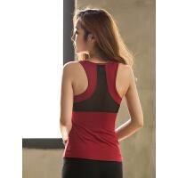 瑜伽服女夏季显瘦背心带胸垫健身房跑步运动健身服吸汗速干衣