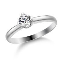 先恩尼钻钻石 白18K金钻戒 结婚钻石戒指/订婚戒指/求婚戒指 钻石戒指爱情密码HFGCH396