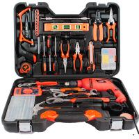 哈博-五金工具组合组套 木工电工手动工具箱冲击电钻电动工具 礼品套装29种