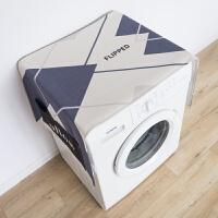 北欧简约棉麻布艺滚筒洗衣机盖布单开门冰箱盖巾尘罩晒罩T 55cmX140cm