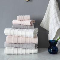 毛巾浴巾三件套纯棉成人柔软可爱韩版吸水全棉加大号男女情侣洗脸巾家用
