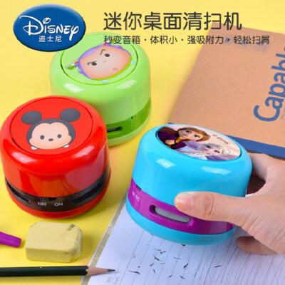 桌面吸尘器充电清理键盘橡皮擦削笔器笔屑学生便携清洁器迷你充电 迪士尼正版授权
