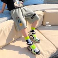 【抢购价:34元】左西童装男童短裤夏季2021新款儿童裤子五分裤纯棉中大童运动洋气